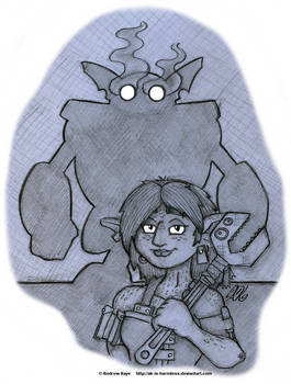 Sketch - Fortuna and Her Backup