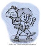 Sketch - Tiny She-Hulk by AK-Is-Harmless