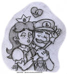 Sketch - The Princess and the Plumber by AK-Is-Harmless