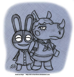 Animal Crossing - Dotty and Renee