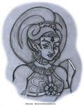 Sketch - Urbosa by AK-Is-Harmless