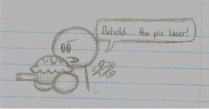 Notebook Doodle-The Pie Laser