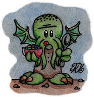 At R'lyeh Dread Cthulhu Eats by AK-Is-Harmless