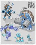 Squirtlemon - All Digi-evolutions