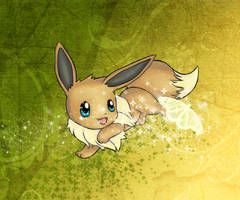 eevee and a butterlfy by gothYvonne