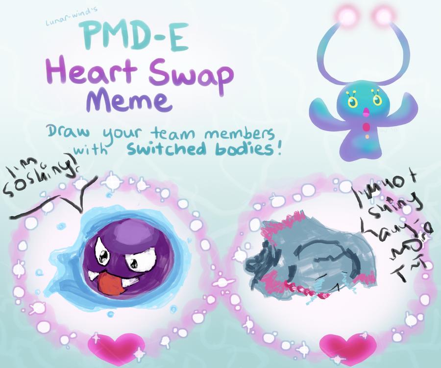 Heart swap meme by mariethedragonwolf