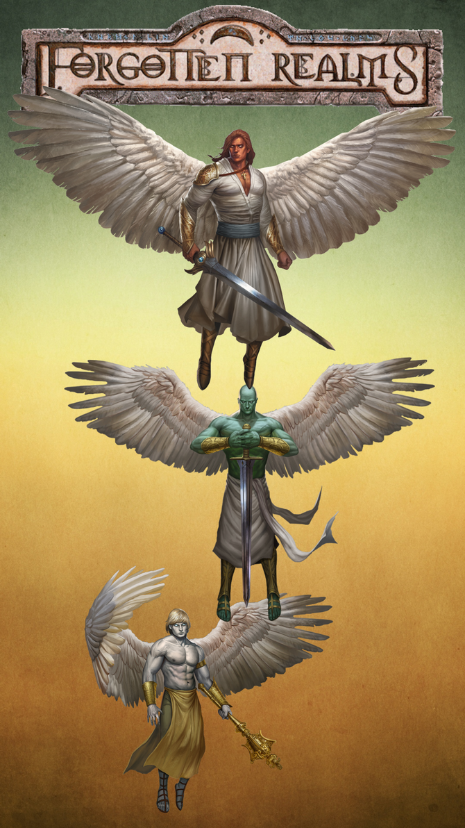 iPhone 6s Plus Forgotten Realms Angels wallpaper 3 by winterfate101