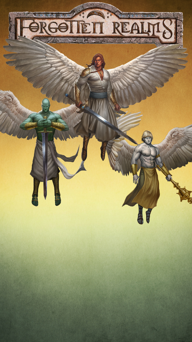 iPhone 6s Plus Forgotten Realms Angels wallpaper 4 by winterfate101