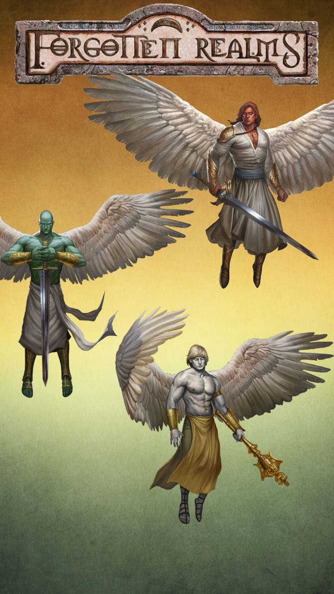 iPhone 6s Plus Forgotten Realms Angels wallpaper 5 by winterfate101