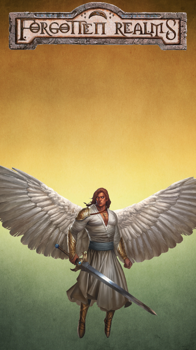 iPhone 6s Plus Forgotten Realms Angel wallpaper 6 by winterfate101