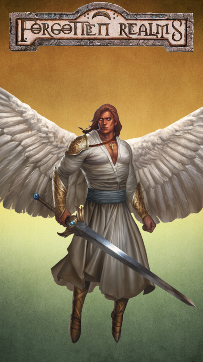 iPhone 6s Plus Forgotten Realms Angel Wallpaper 7 by winterfate101