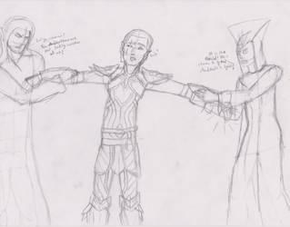 DA:I- Tug-o-War of Faiths by GreyWarden3