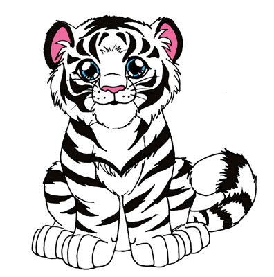 Tiger cub by insectikette on deviantart for White tiger coloring pages