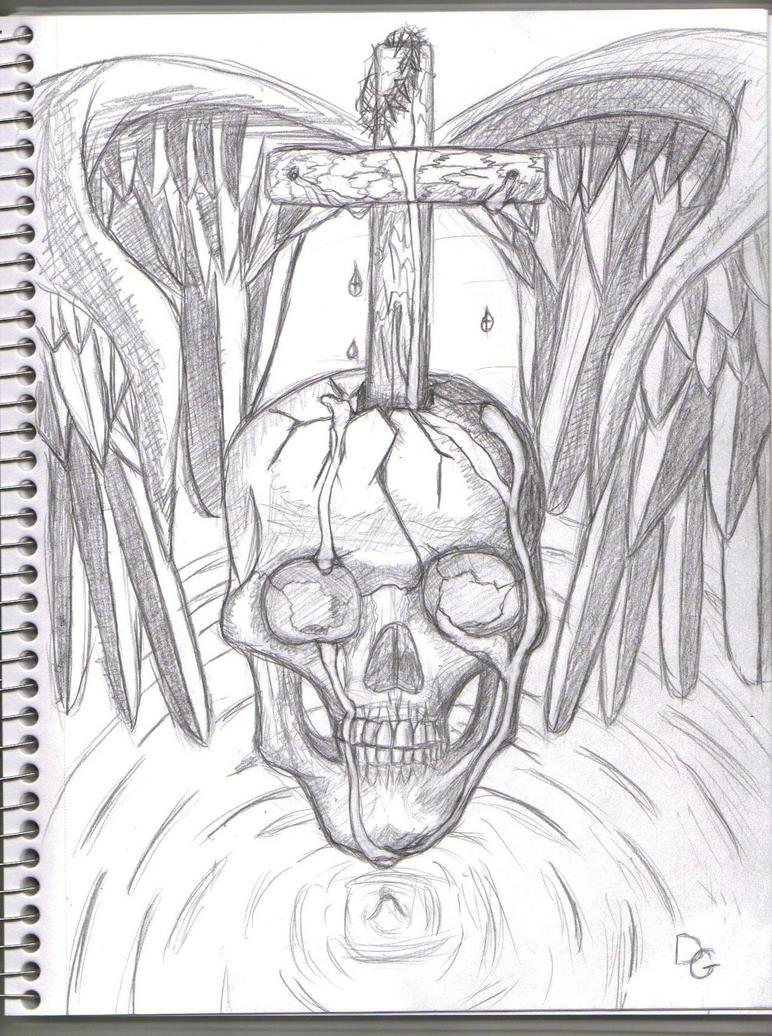 cross skull and wings by icebite0 on DeviantArt