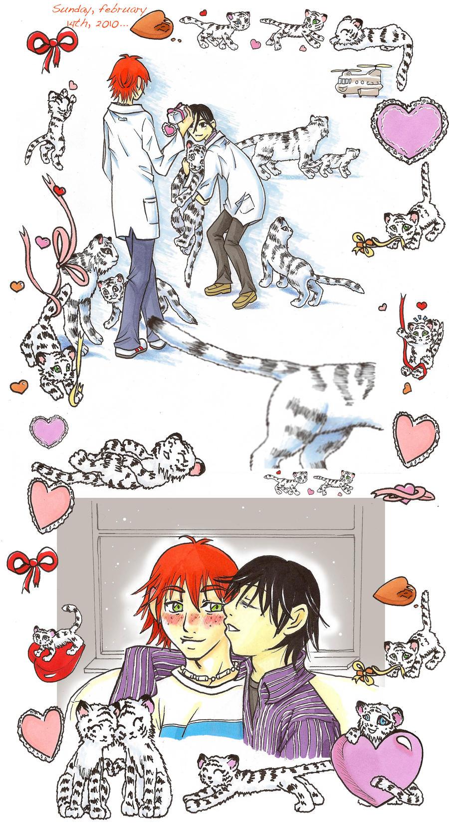 Offbeat - Valentine tigers
