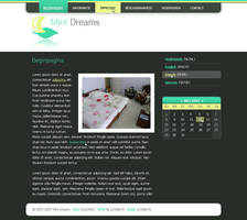 Mint Dreams website by maurice