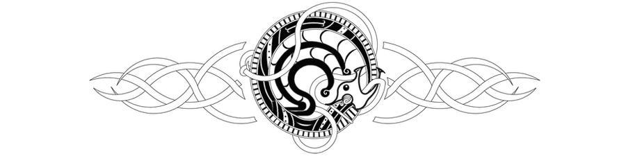 Viking Ouroborus Dragon Tattoo by SharadinViking Symbol For Invincibility