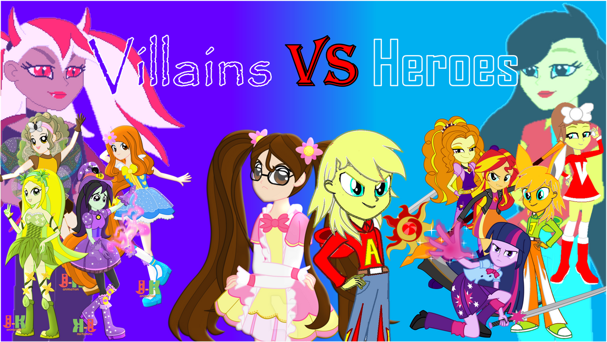 Villains Vs Heroes by Mike437