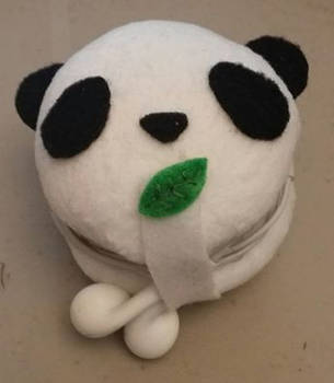 Panda Earbud Holder by xHoshaxBerizx