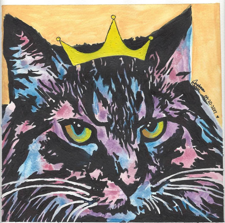Regal Cat Painting by xHoshaxBerizx
