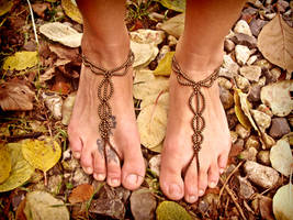 Gypsy Barefoot Sandals by noisypixie