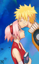 Naruto+Sakura by GundalBoy