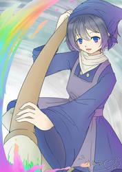 Violet Painter by Bluyidark