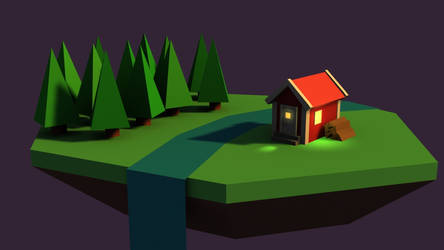 Low poly 3D scene WIP by stoffe930