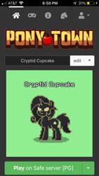 PonyTown Cryptid Cupcake by Miya902