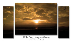Tri Panel Sunset
