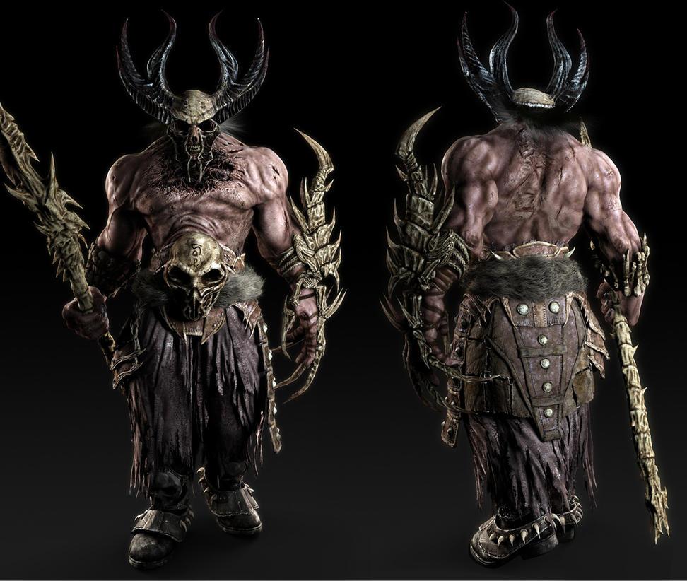 Undead Warrior FrontRear By Vsions On DeviantArt