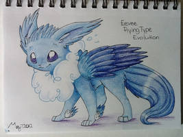 Possible flying type, eevee evolution by gatorette8