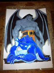 Goliath and Bronx From Gargoyles by SketchinWithCedTatau