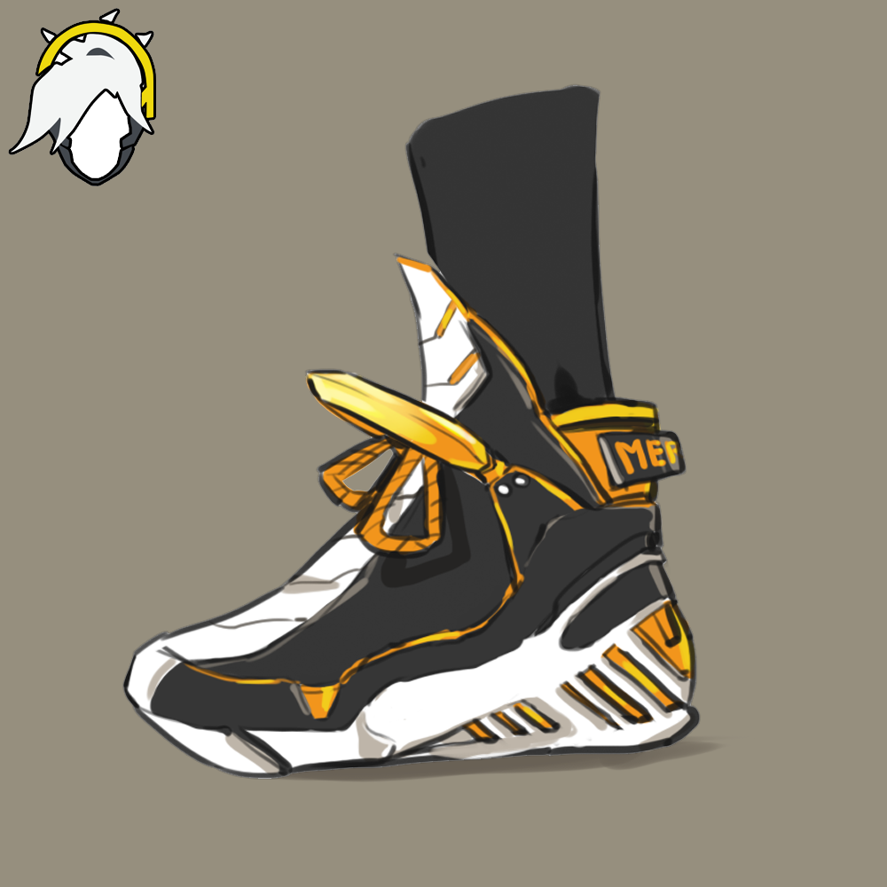 OVERWATCH MERCY ( Sneaker Concept ) by MINIMICONCEPT on