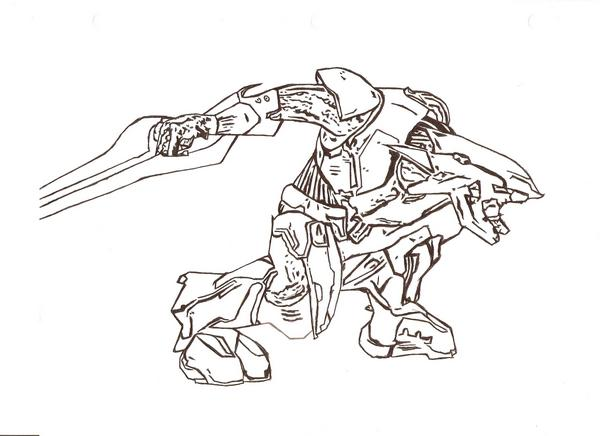halo 2 covenant coloring pages - photo#22