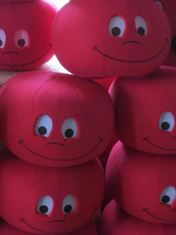 Economy Tomato Mascot Heads by RhetoricHaystack