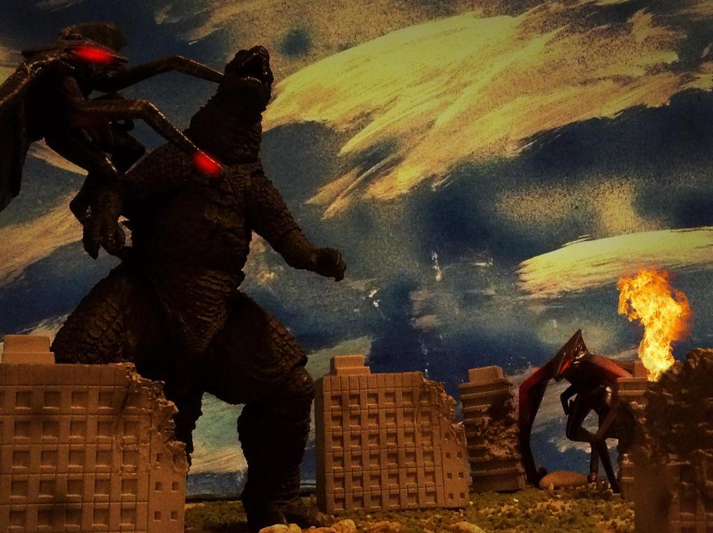 Godzilla vs muto's by Kidkaiju2001 on DeviantArt