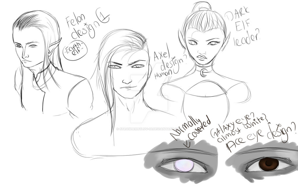 Character Design Help : Character designs help needed by strawberryluv on