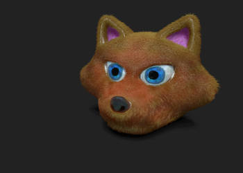 Cartoon Fox Head by RobIsAHat