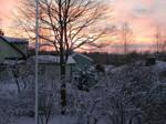 Winter evening dusk