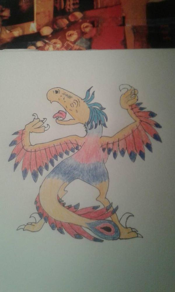 Velociraptor, Coloured. by Volkerschild