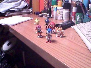 Sonic Mini Figures by patthehedhehog