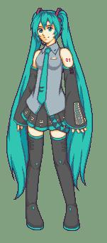 Hatsune Miku Full Body by AliceTheBRabbit