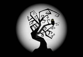 Owl On A Tree - Illustration