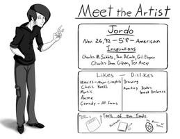 Meet the Artist - Jordo - [100 Watchers] by JordoDeskjockey