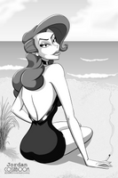 Relaxation On The Shore - PIN-UP by JordoDeskjockey