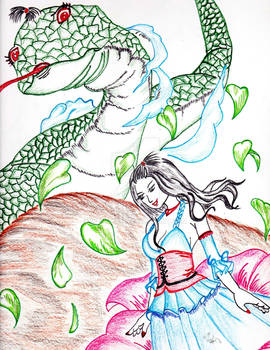 Fairy with Serpent