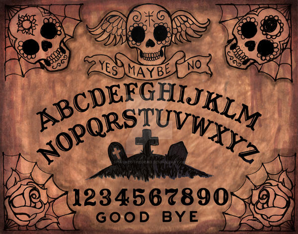 Day of the Dead Ouija Board by ShayneOtheDead
