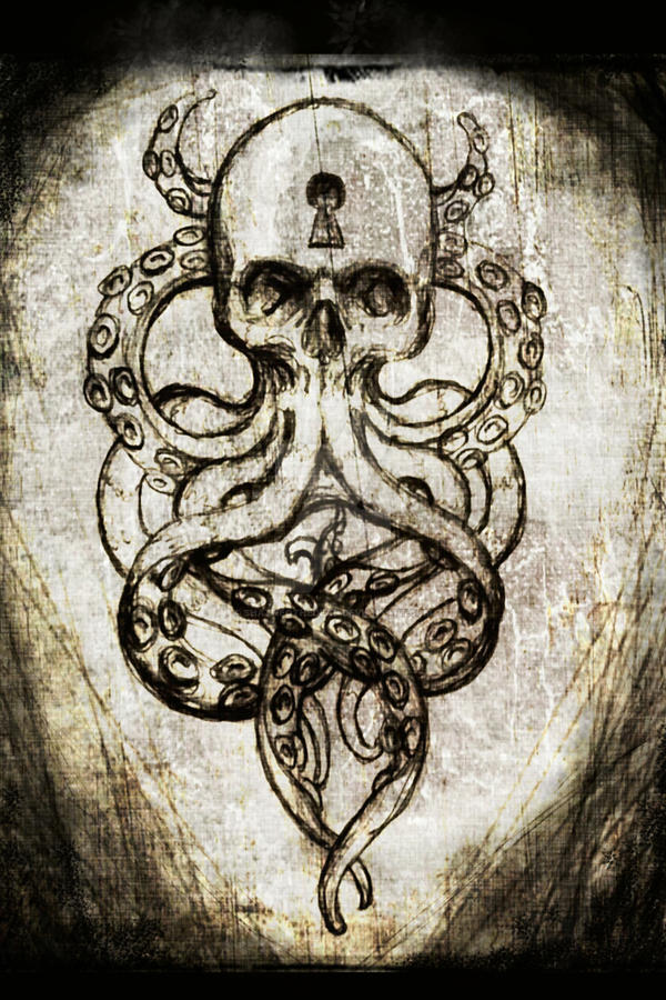 Cthulu Skull by ShayneOtheDead