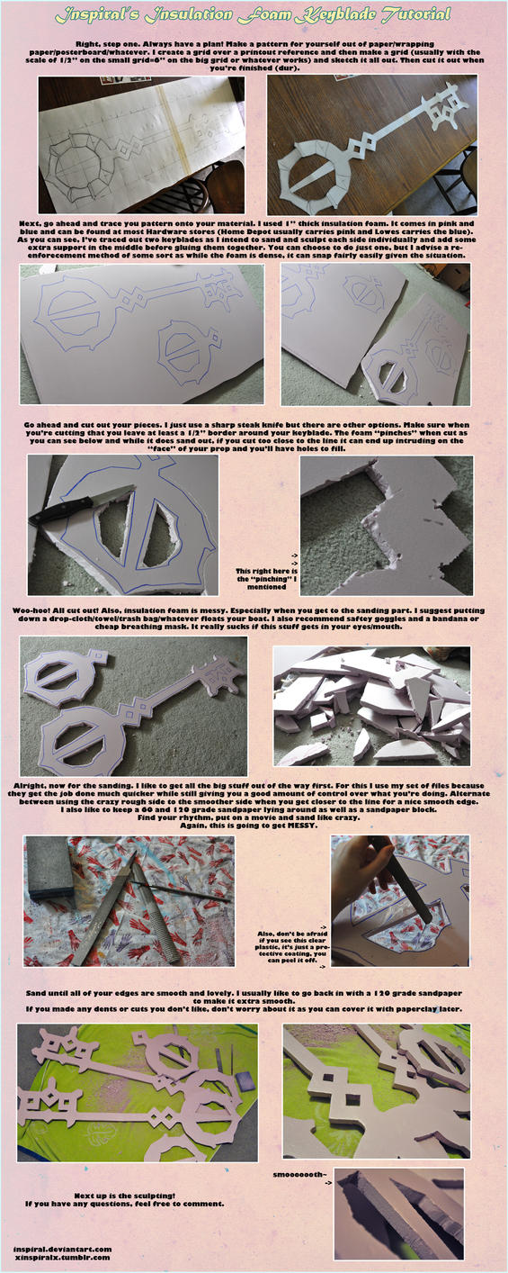 insulation foam keyblade tutorial pt1/2 by Inspiral